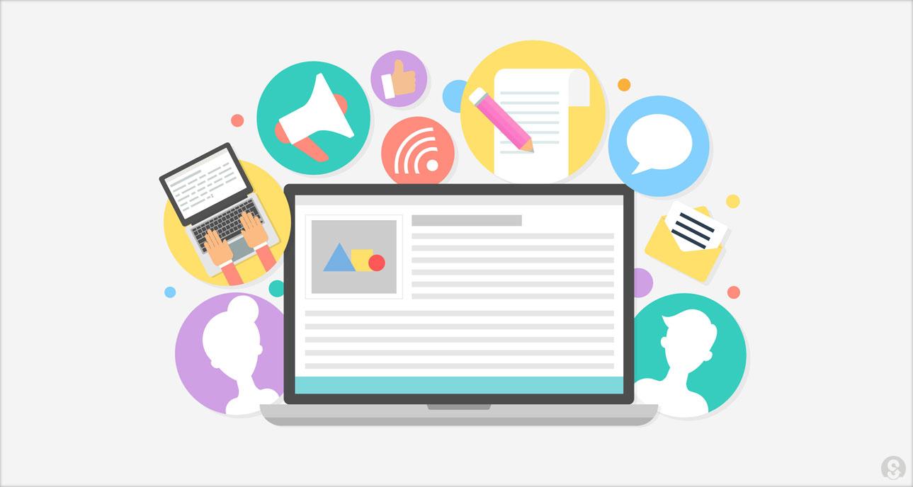 Content kan verschillende vormen aannemen tekst, afbeeldingen, video of infographic.